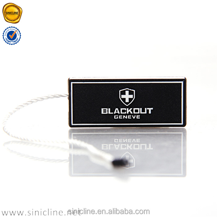 Sinicline Manufacturer Made Directly black garment seal tags with frame