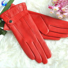 Lady real genuine leather gloves