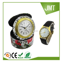 High class novelty design jewelry box clock and wrist watch