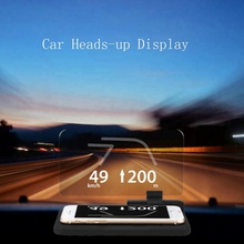 2018 Universal HUD Heads Up Display Car GPS in any car. Smartphone accessory