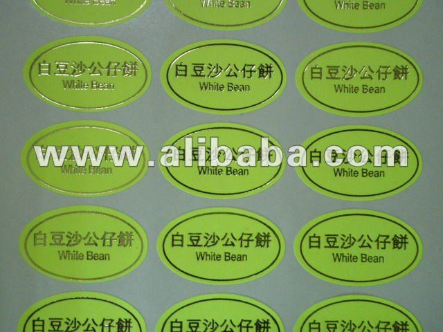 Hot stamping Label Sticker