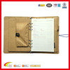 Binder canvas rechargeneable portfolio case for ipad canvas rechargeable battery padfol agenda with pocket and card holder