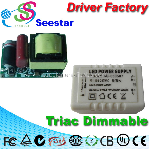 External dimmable driver 3W 5W constant current 280mA bulb driver led ic