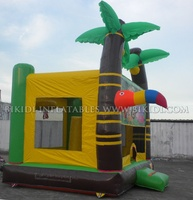 Small palm trees inflatable bouncer/inflatable jumping house/inflatable animal bouncers B1155