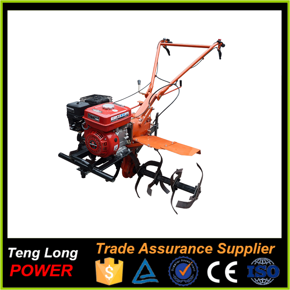 Chinese farm machineg gasoline garden tractor rotary plough tiller/ cultivator