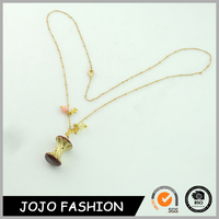 Beautiful gold chain accessories for women fashion metal pendant necklace