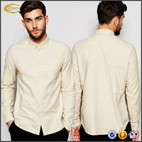 Ecoach Wholesale High quality Textured cotton fabric long sleeves Button-down collar t-shirt 2016 casual shirt design for men