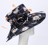 New design promotional jacquard Ladies organza hats for sales