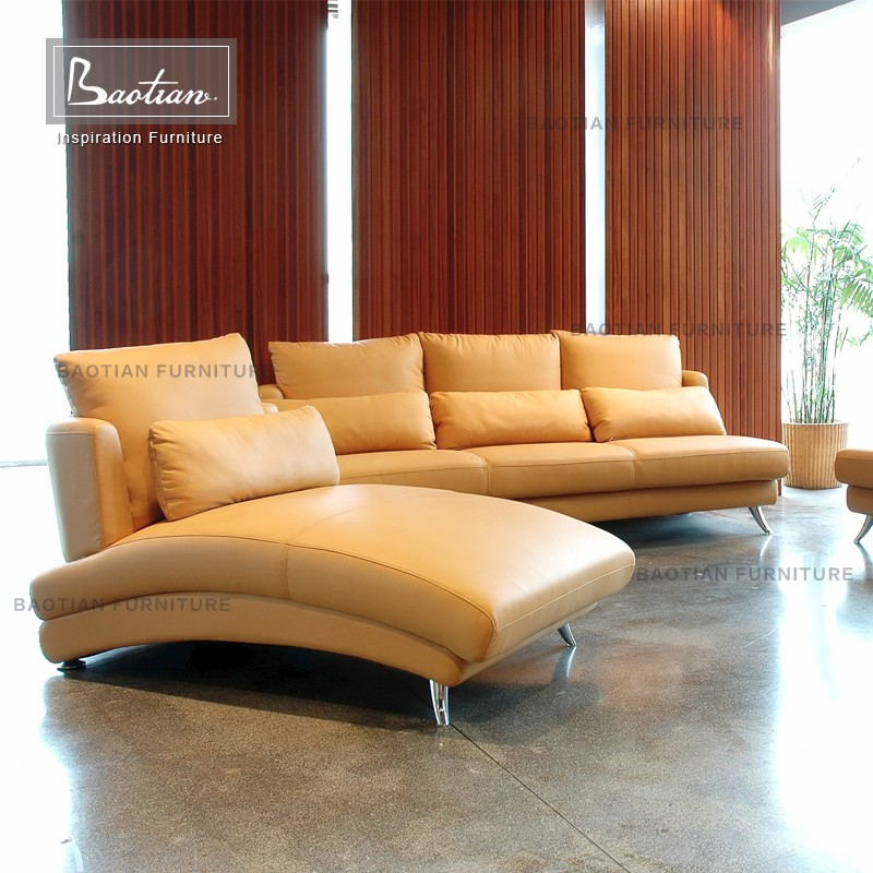 Italy Leather Sofa Set With Storage Ottoman Buy Storage