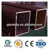 Fireproof Aluminum square tube profile coated wood skin