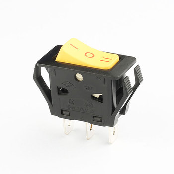 KCD1 round Arc-shaped 12v 20a t105/55 ip45 waterproof isolator on off on mini rocker switch