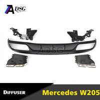 NEW C class W205 diffuser + exhaust tip for Mercedes