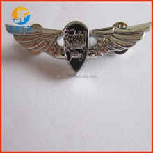 Custom made wing metal pin badge