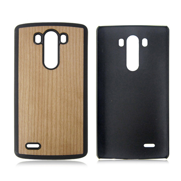 Real wood phone case PC bottom phone shell hard back cover for LG G3