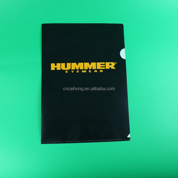 Factory directly wholesale a4 size l shape folder, l shape file folder, single page plastic folder for advertising