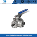 "1/2"" Stainless Steel 3Way Ball Valve -L Type with Mounting Pad WOG 1000"