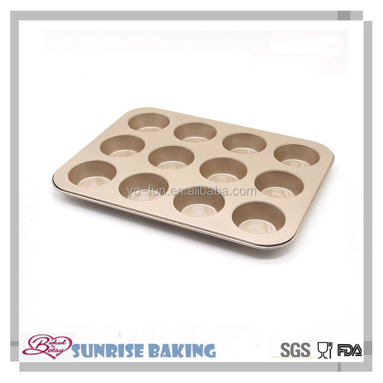 12 cups muffin pan cake mold ,carbon steel bakeware,microwave ovenware