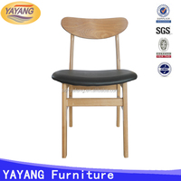 Factory price manufacturer high back wooden dining chair for restaurant , wooden restaurant chair