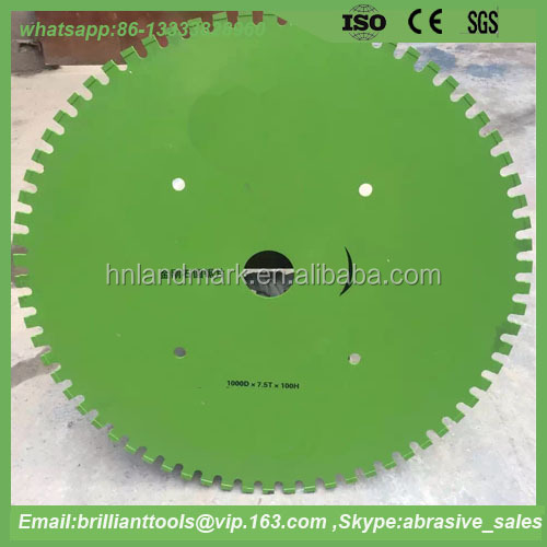 long service life 1000*100*7.5mm diamond road saw blade