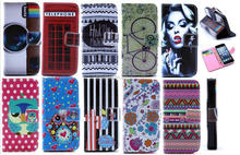 Fashion Design Stand Leather Cover For iPhone 5 5S