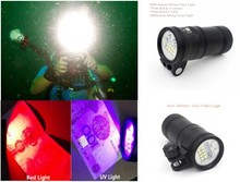 High intensity 5000lumen scuba diving torch led professional underwater