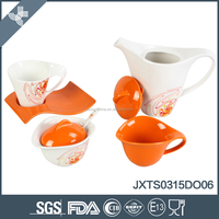 Hot sale eco-friendly wholesale porcelain top quality russian tea set