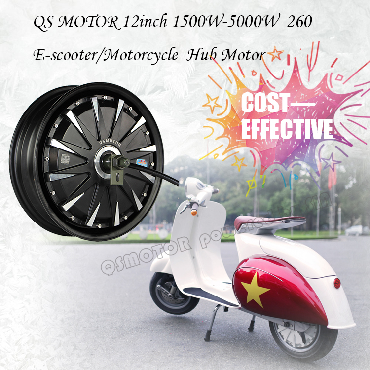 12inch 5000W 5000 Watt 260 45H V3 brushless DC electric scooter motorcycle wheel hub <strong>motor</strong>