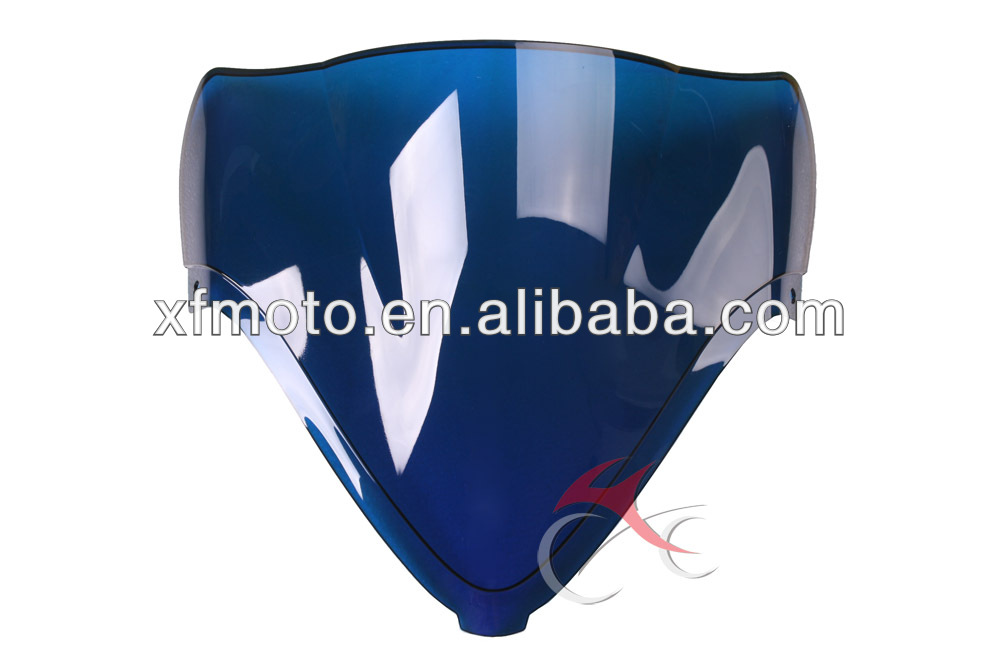 For Suzuki GSX1300R GSXR 1300 Hayabusa 08 09 10 11 12 Blue Windscreen Windshield