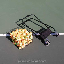 foldable tennis ball carrier with 2wheels protable tennis ball cart