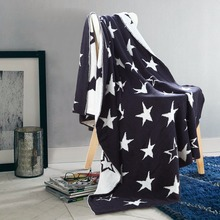 Warm Winter Baby Nordic Blanket Stock Lot Custom Snuggie Star Pattern Cute Pattern Baby Cover100% Cotton Knitted Organic Blanket