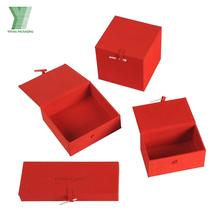 red fabric wrapper memory card cardboard boxes accessories paper packaging