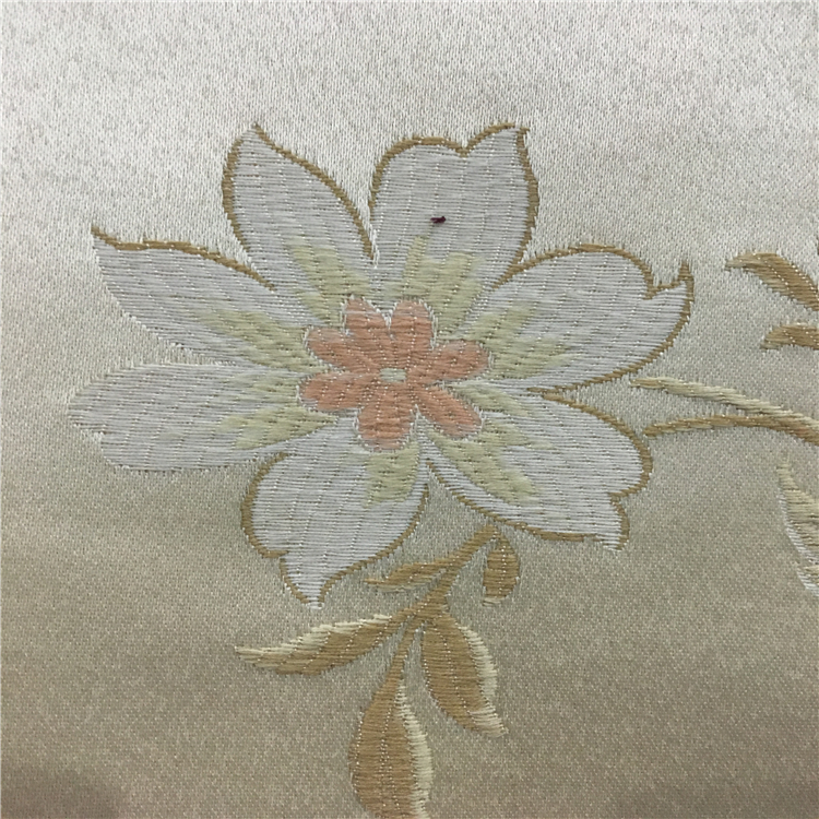 hot selling cheap imitation silk sofa fabric jacquard fabric with flowers