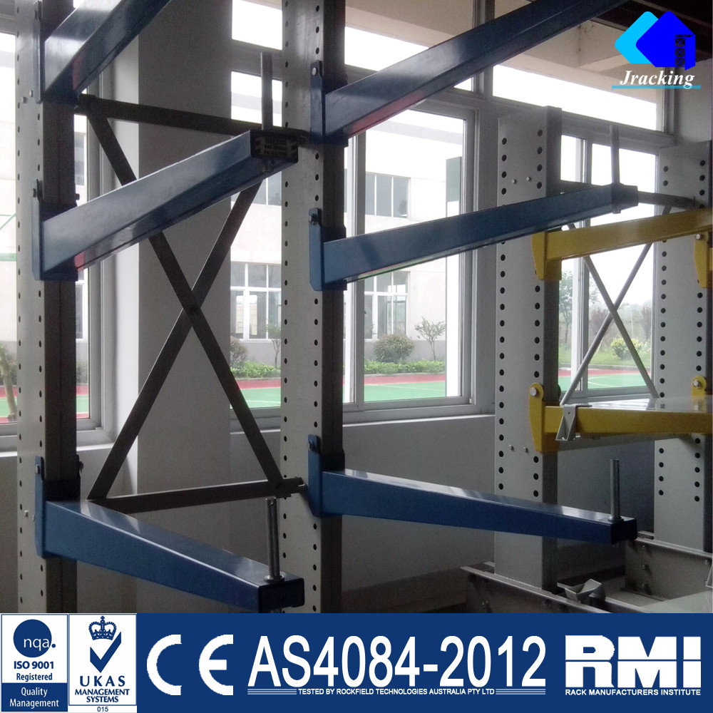 Jracking Color Tube Pipe Material Storage Shelf Cantilever Rack System