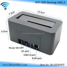 "2.5""/3.5"" usb3.0 to sata wifi hard drive dock all in 1 hdd Docking station wifi router"