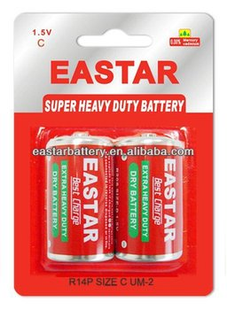 heavy duty carbon dry battery cell R14P
