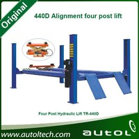 Four steel cables move synchronized 4 post car lift 440D Alignment