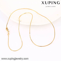 42977 Xuping wholesale jewellery 18k gold color chains alloy for fake jewelry necklace