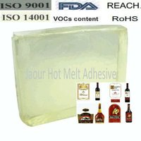 PSA hot melt glue for glass bottle label