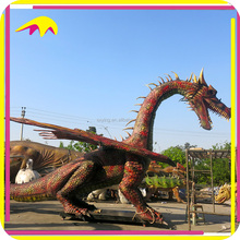 KANO0893 Amusement Park Decor Artificial Robotic Giant Real Dragon