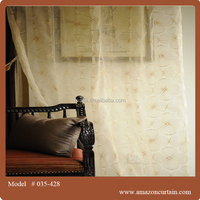 embroidery designs voile curtains,ready-made curtain,beautiful curtain