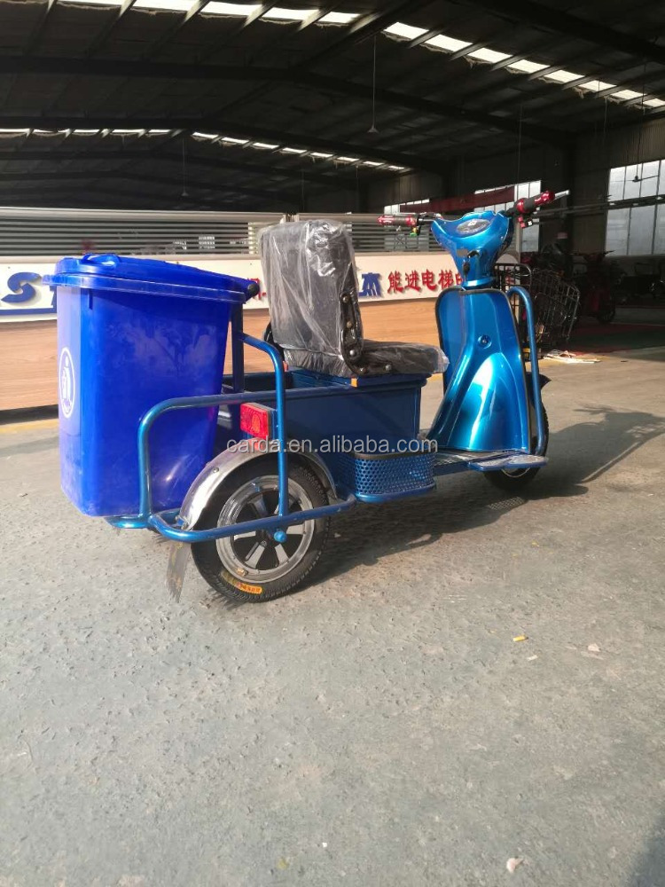Elctric tricycle for Clean street with garbage can