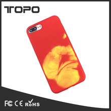 New Design thermochromic Rubber matte smooth TPU case for iPhone X
