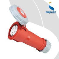 Waterproof 3P+N Industrial Socket Red AC 380-415V 32Amp IP67 32 Amps Industrial Socket