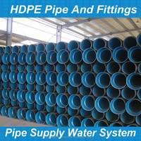 hdpe 100mm corrugated drain pipe factory