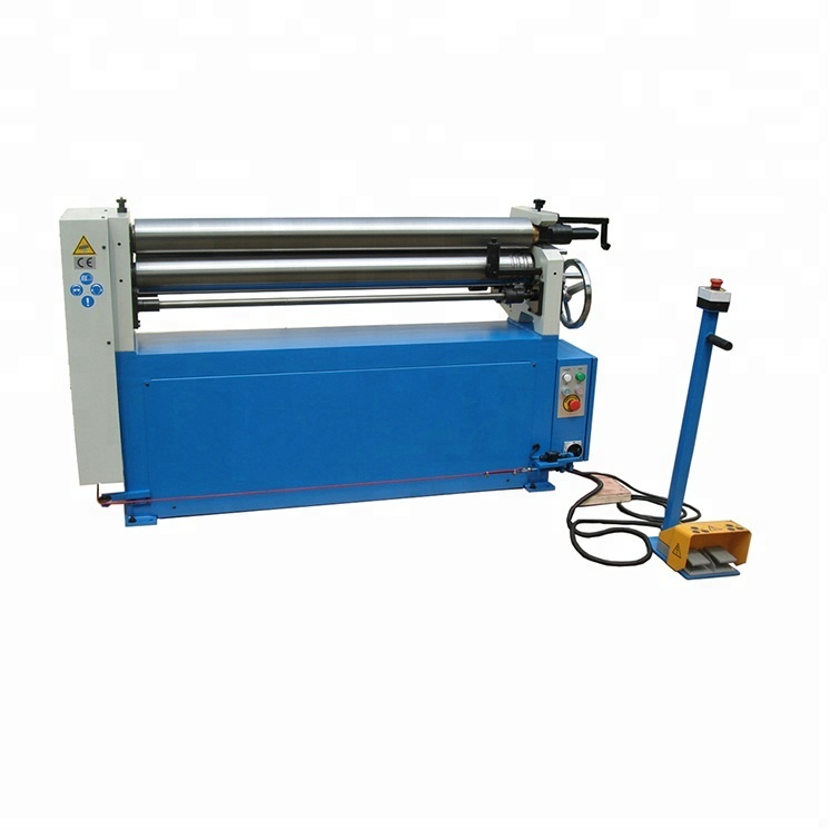 Electric 3 Roller plate Slip Rolling Bending Machine for Metal Sheet