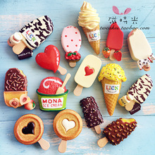 Export Europe Japan polyresin cute ice cream refrigerator magnet sticker magnetic <strong>fridge</strong>