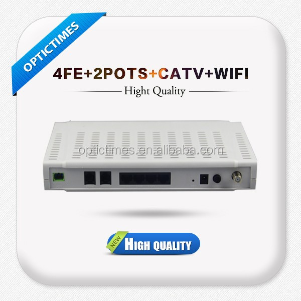 Hot sale 4GE ports gepon/epon/gpon onu with catv and wifi