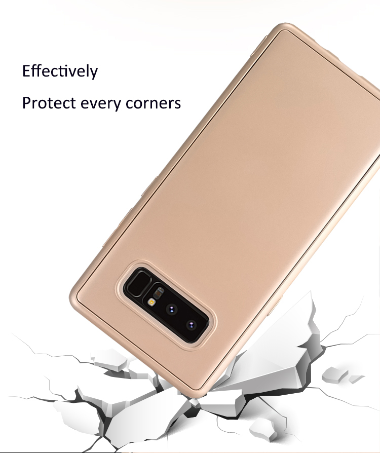 DFIFAN Front and back mobile cover case for samsung galaxy note8 TPU 360 full protective phone case for samsung note 8
