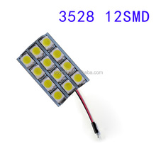 Car Bulb festoon 12smd 1210 / 3528 led Dome Map car Festoon led light