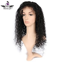 wholesale cheap glueless natural invisible hairline 100% full lace wig 12 inch human hair